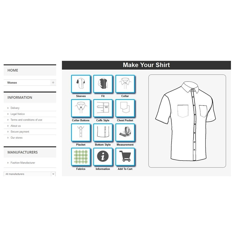 module - Combinations & Product Customization - Tailored Shirt Online - 11
