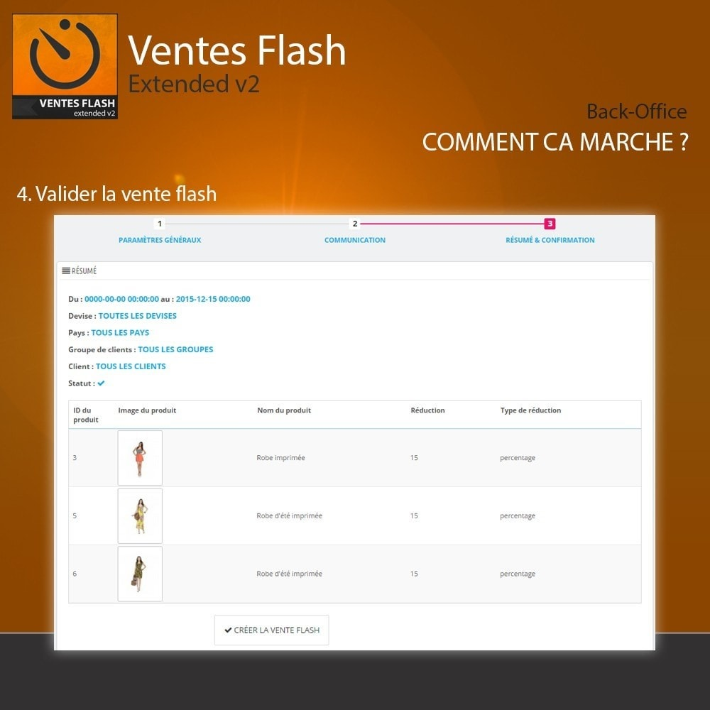 module - Ventes Flash & Ventes Privées - Ventes Flash - Etendu - 5