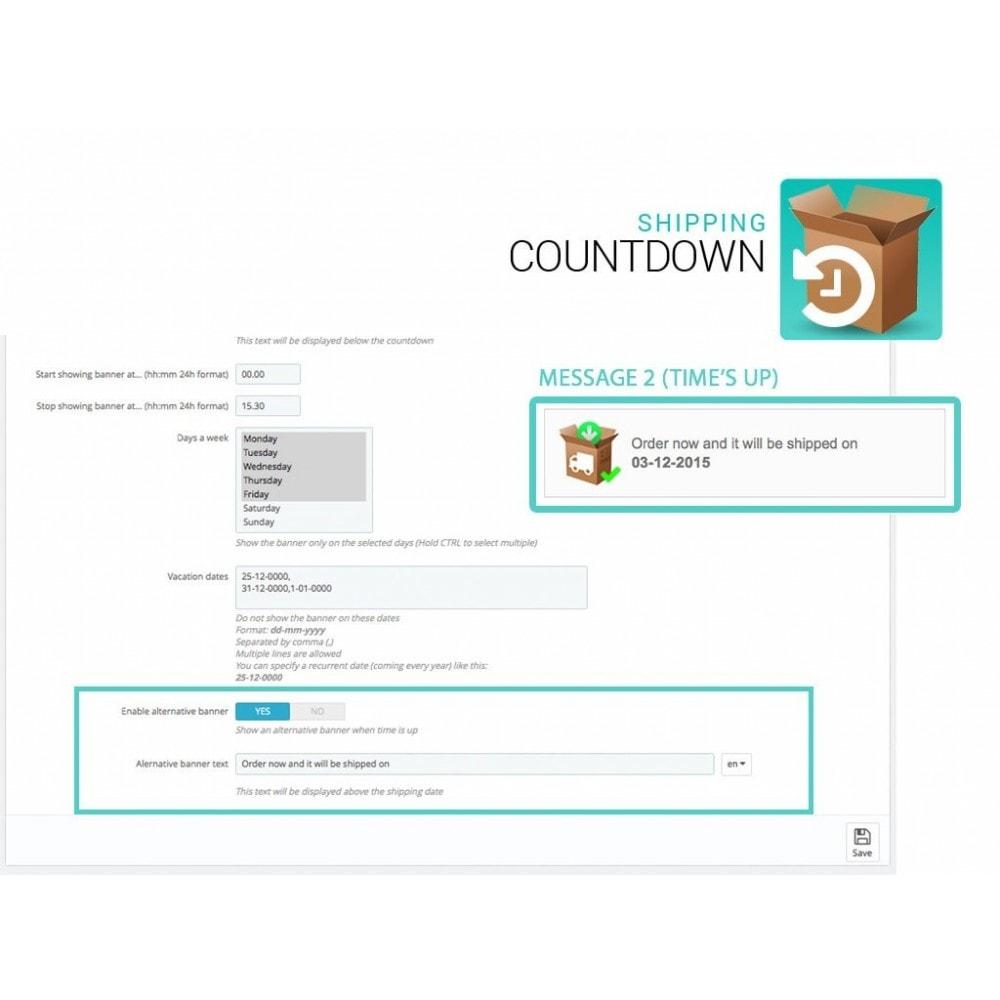 module - Data di Consegna - Banner Spedizione e consegna con Countdown - 3
