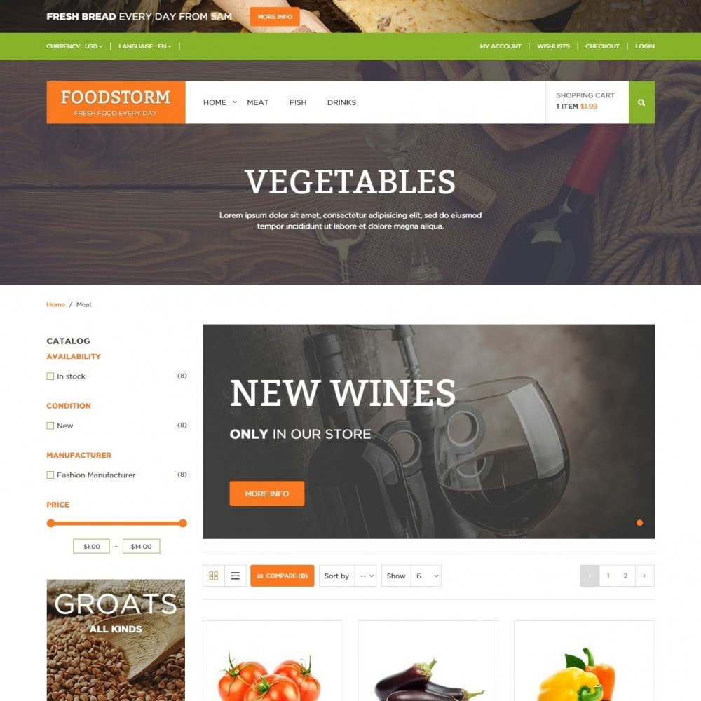 theme - Alimentos & Restaurantes - Loja de Alimentos - 3