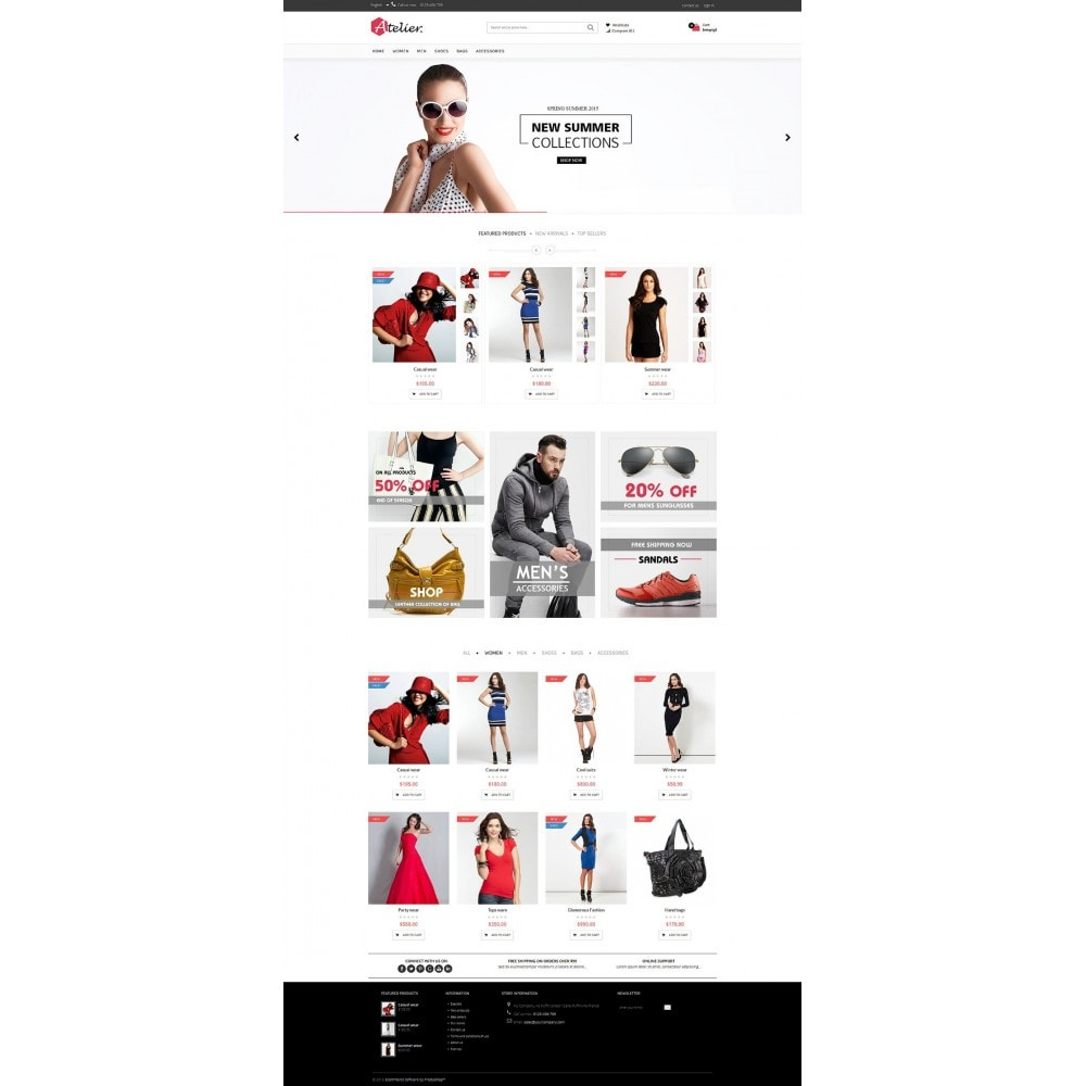 theme - Мода и обувь - Atelier Fashion Multipurpose HTML5 - 2