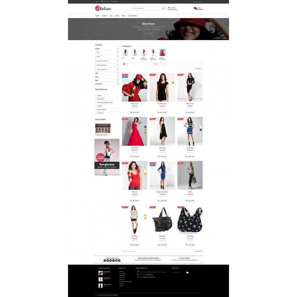 theme - Мода и обувь - Atelier Fashion Multipurpose HTML5 - 3
