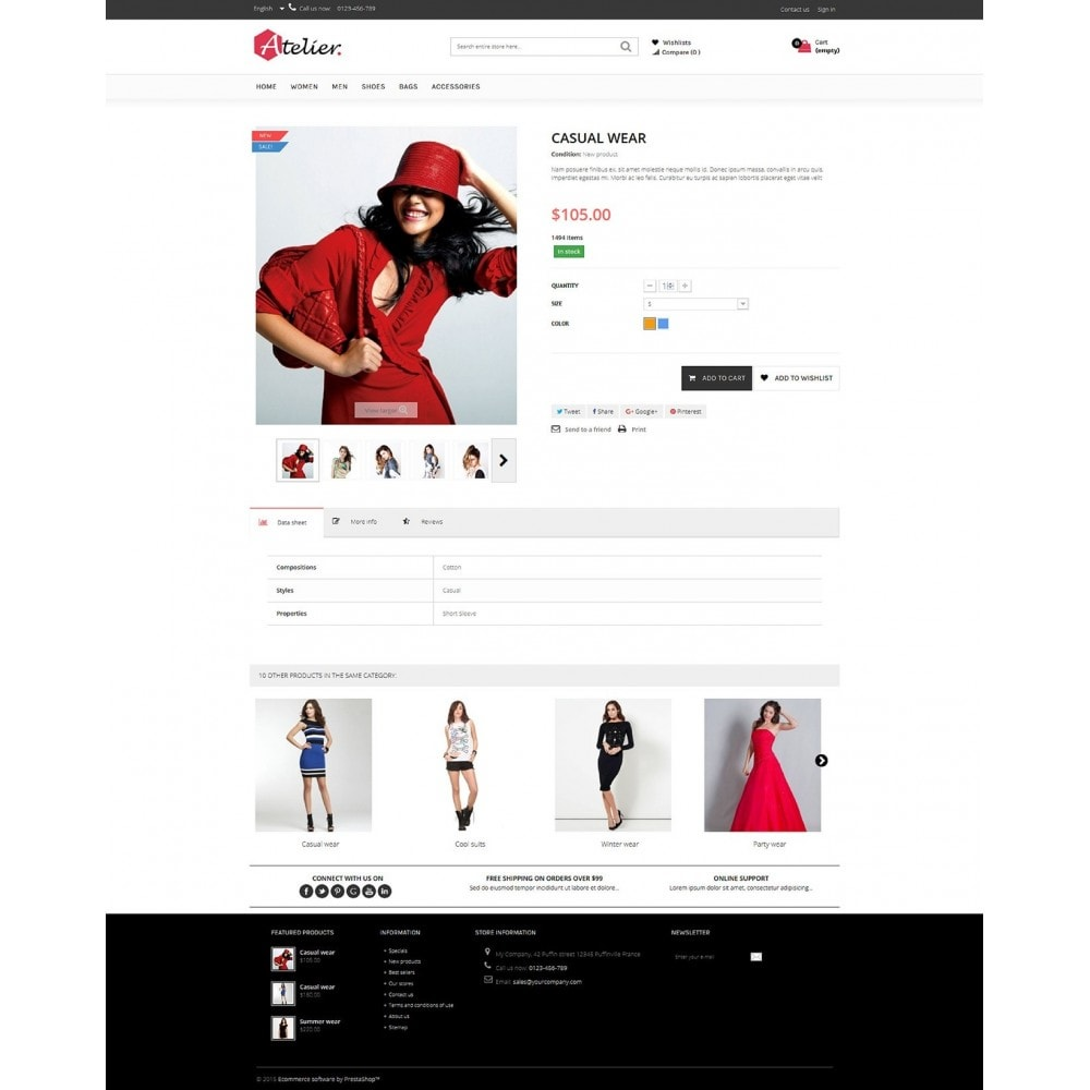 theme - Мода и обувь - Atelier Fashion Multipurpose HTML5 - 6