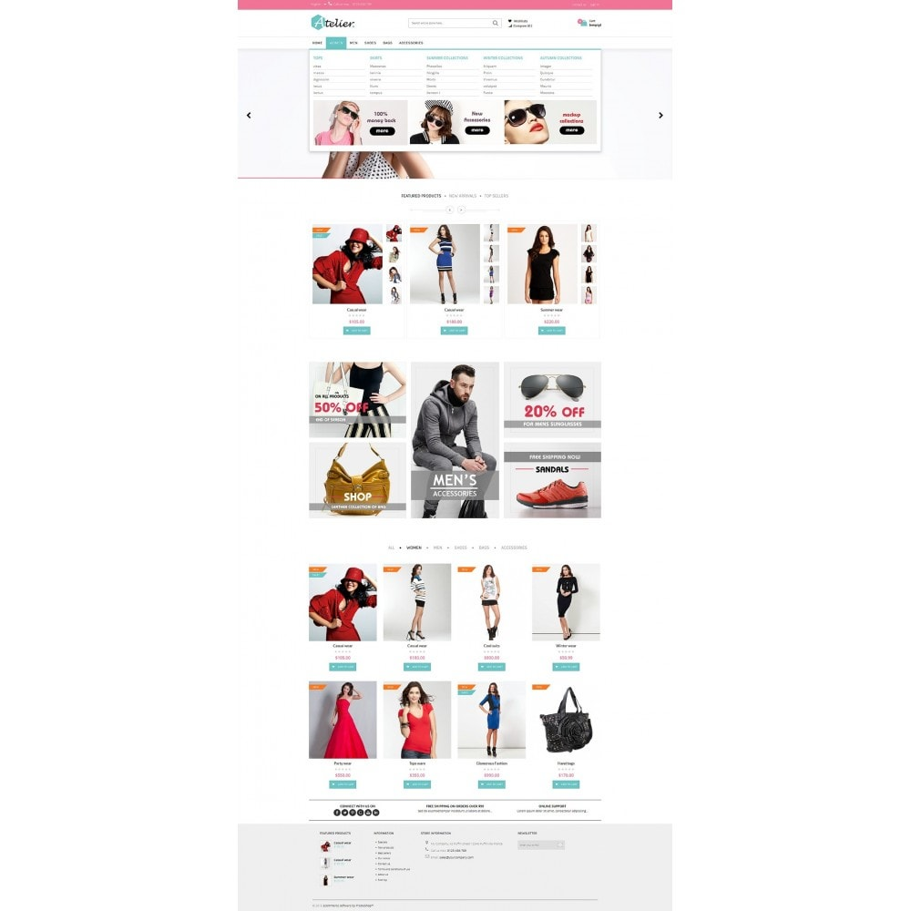 theme - Moda y Calzado - Atelier Fashion Multipurpose HTML5 - 6