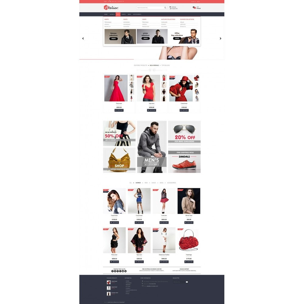 theme - Мода и обувь - Atelier Fashion Multipurpose HTML5 - 9