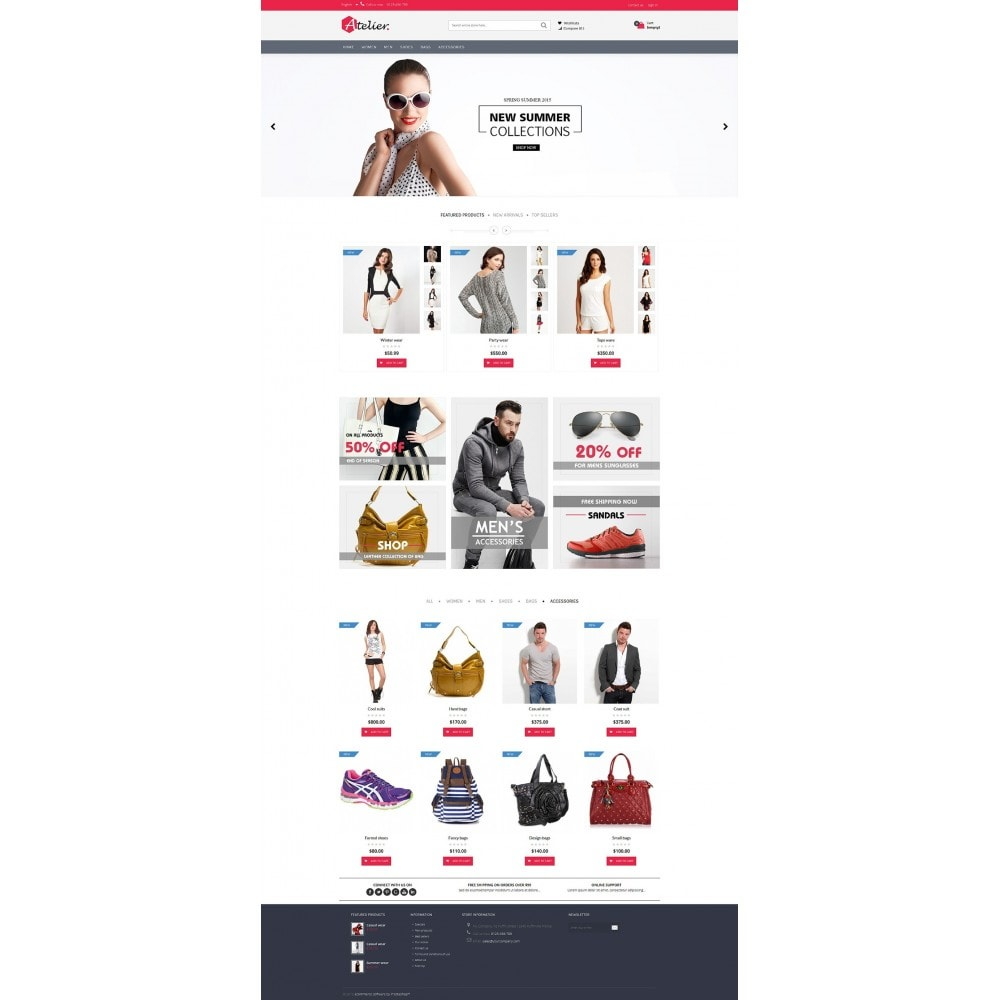 theme - Мода и обувь - Atelier Fashion Multipurpose HTML5 - 13