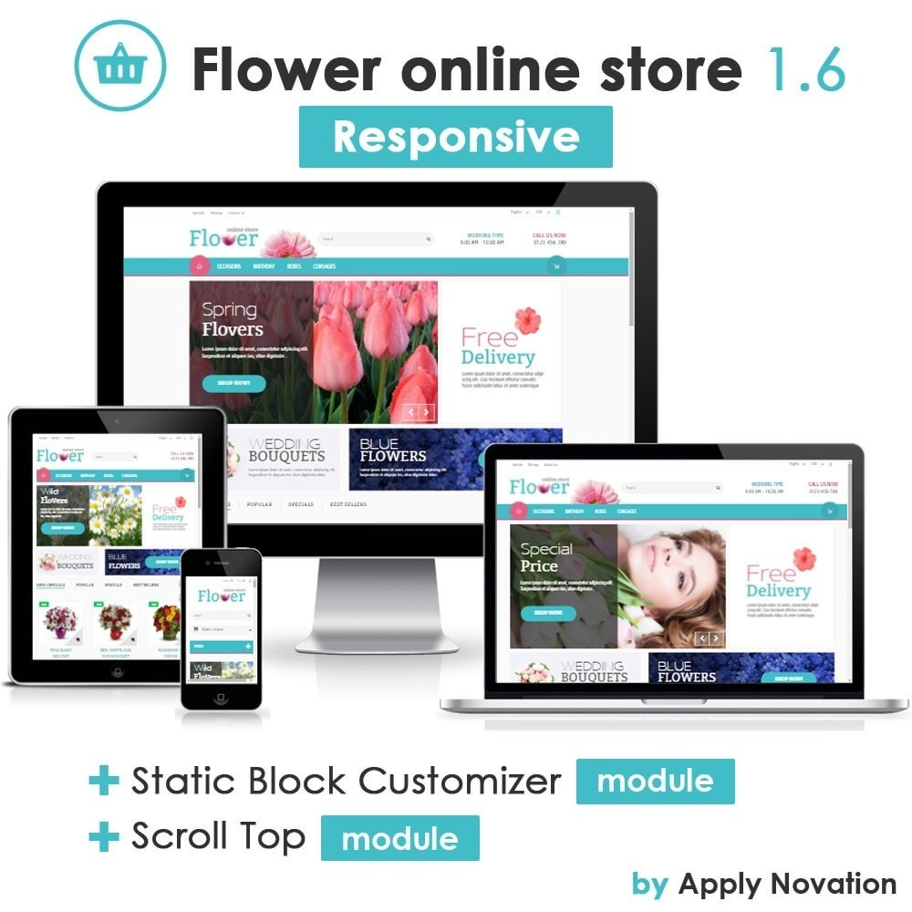 theme - Gifts, Flowers & Celebrations - Flower Online Store 1.6 Responsive - 1