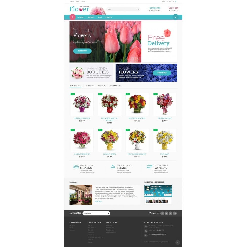 theme - Gifts, Flowers & Celebrations - Flower Online Store 1.6 Responsive - 2