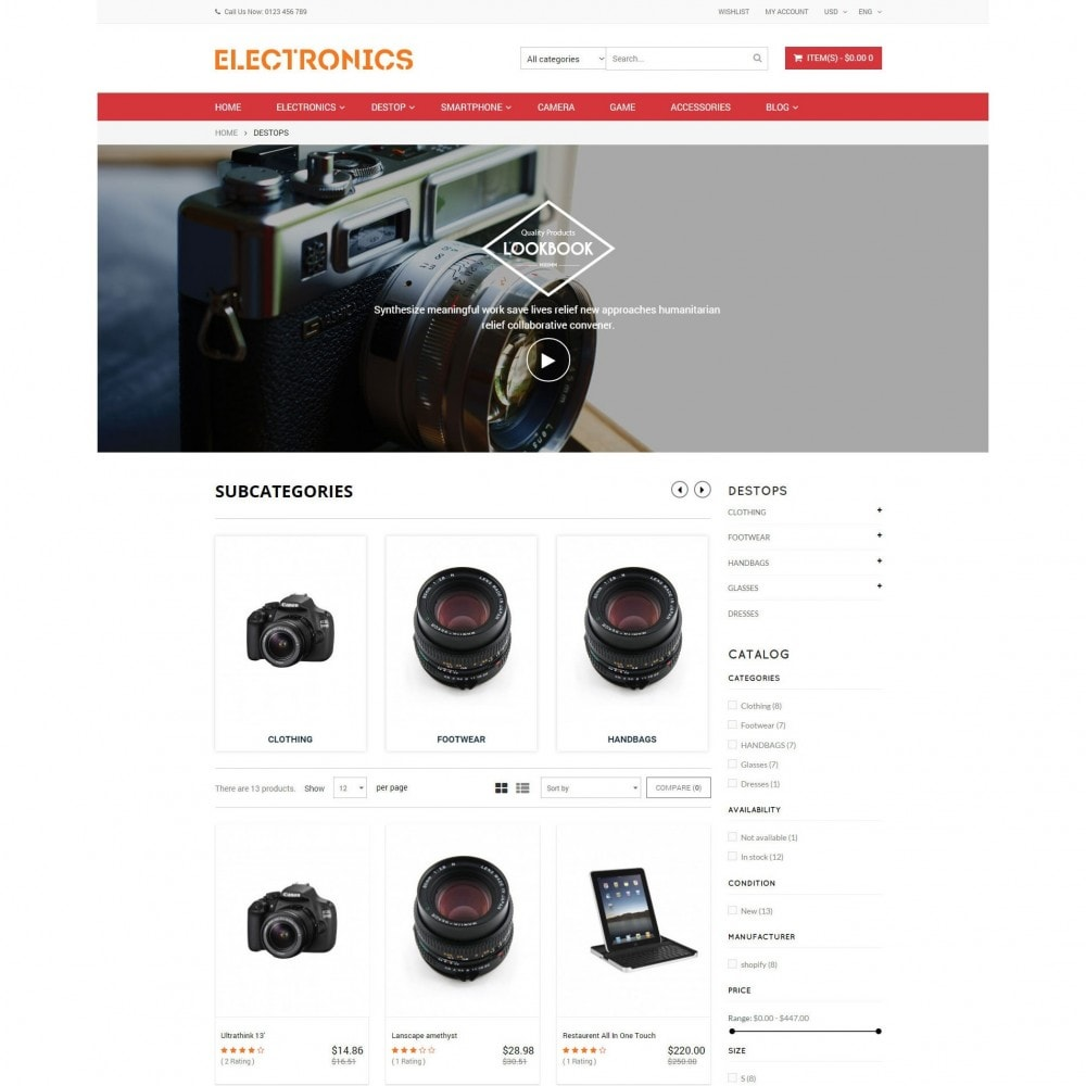 theme - Elektronica & High Tech - Appliances & Electronics Responsive  Store - 4