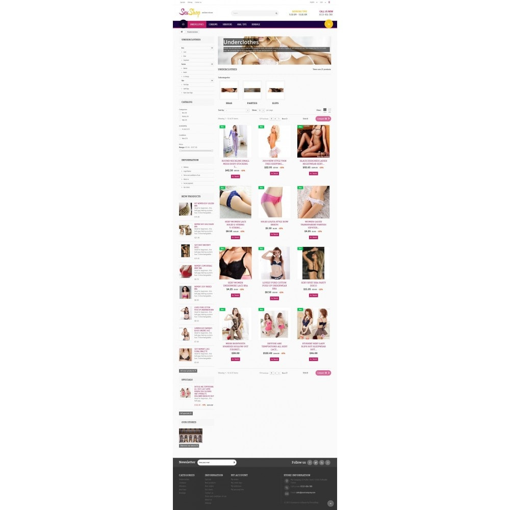 theme - Lingerie & Adultos - SexShop Online Store 1.6 Responsive - 5