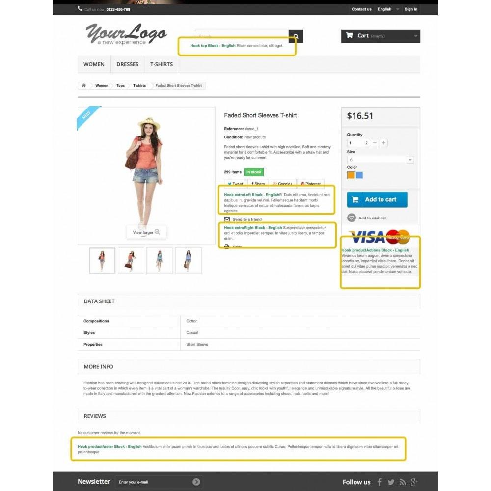 module - Blocks, Tabs & Banners - Static, Custom, HTML, Text, Multi blocks - 2