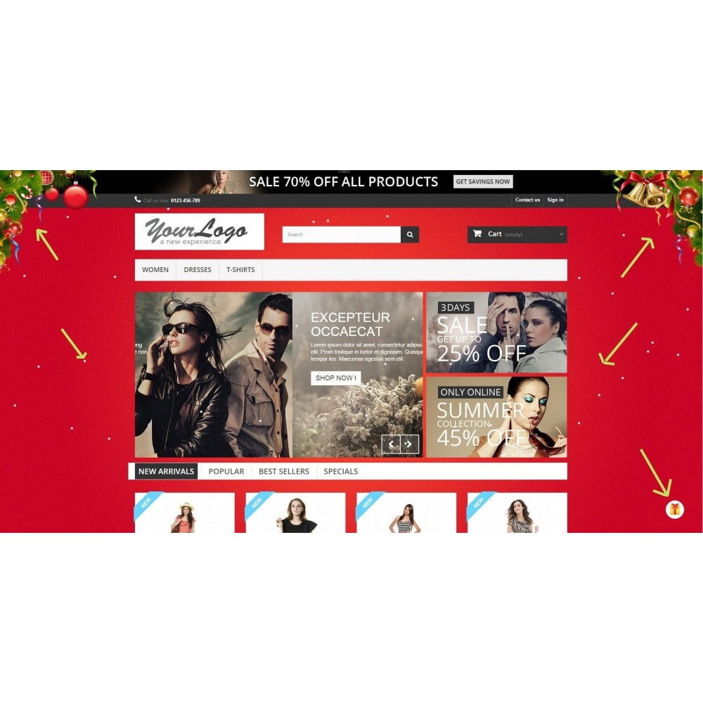 module - Individuelle Seitengestaltung - Christmas Theme Configurator - 2