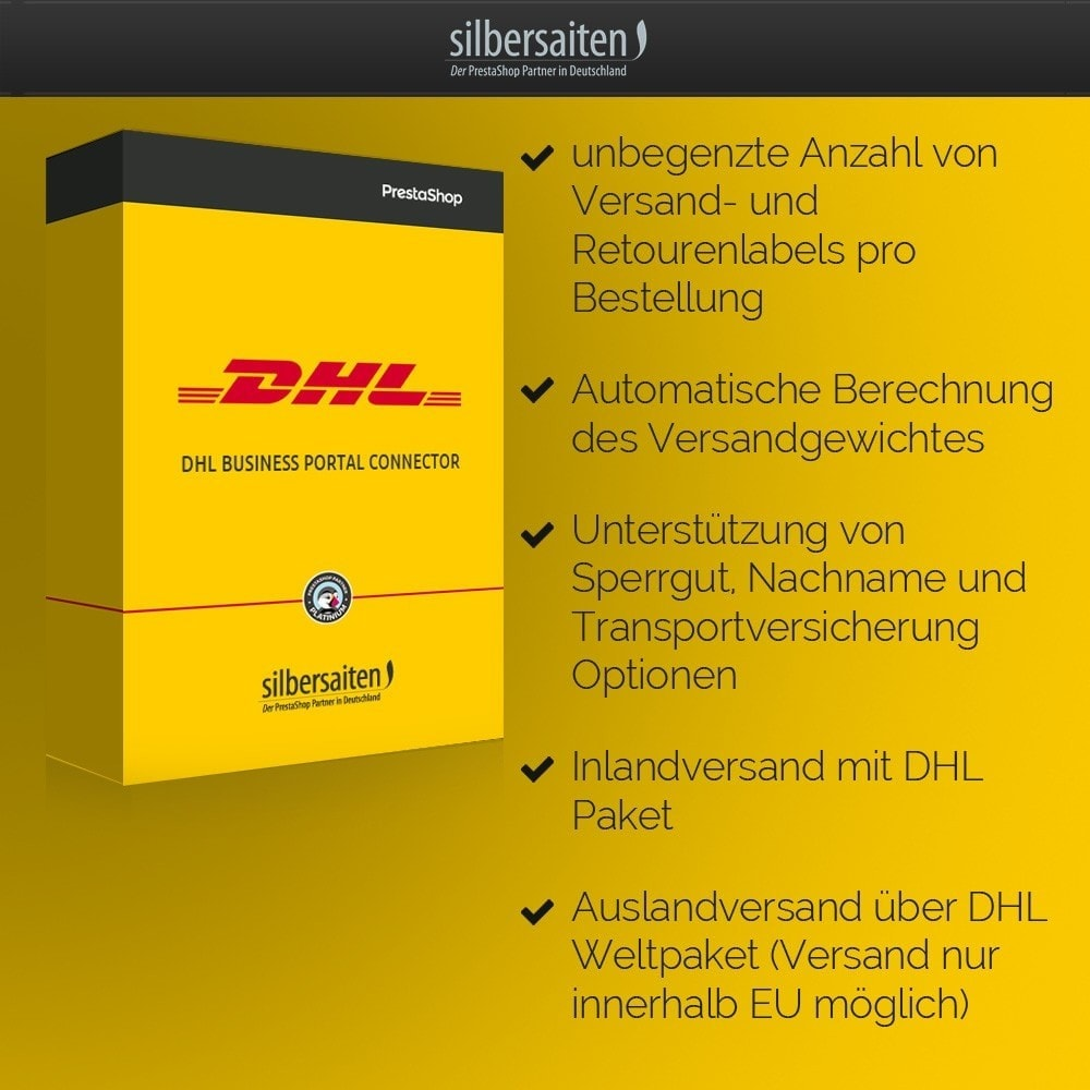module - Transportadoras - DHL Business Portal Connector - 2