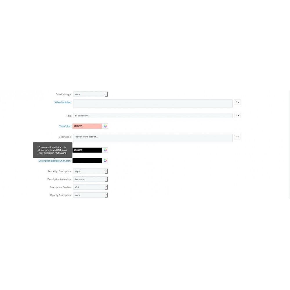 module - Personnalisation de Page - Page d'accueil personnalisable diaporamas - 4