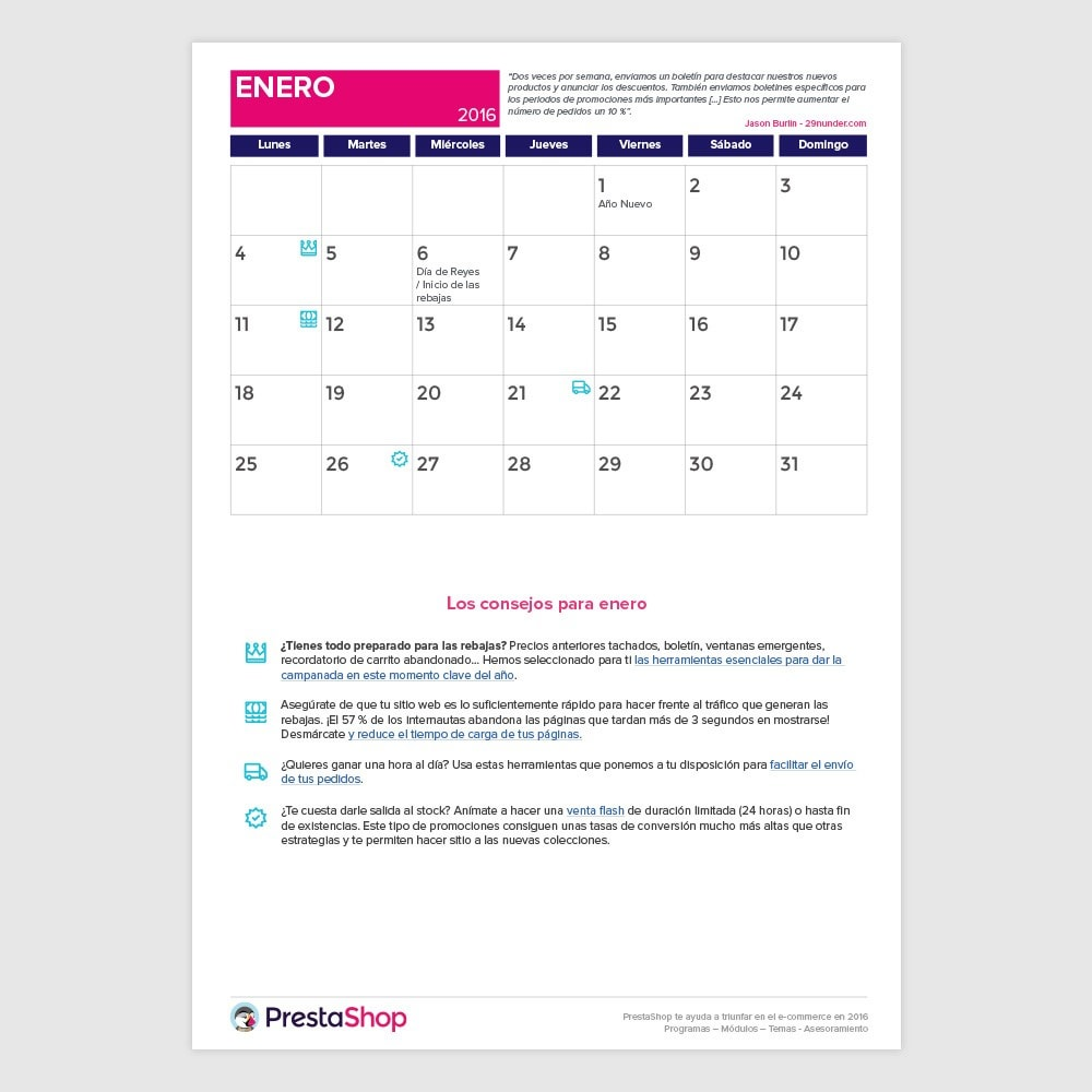 other - Calendario e-Commerce - Calendario e-Commerce 2016 España - 2