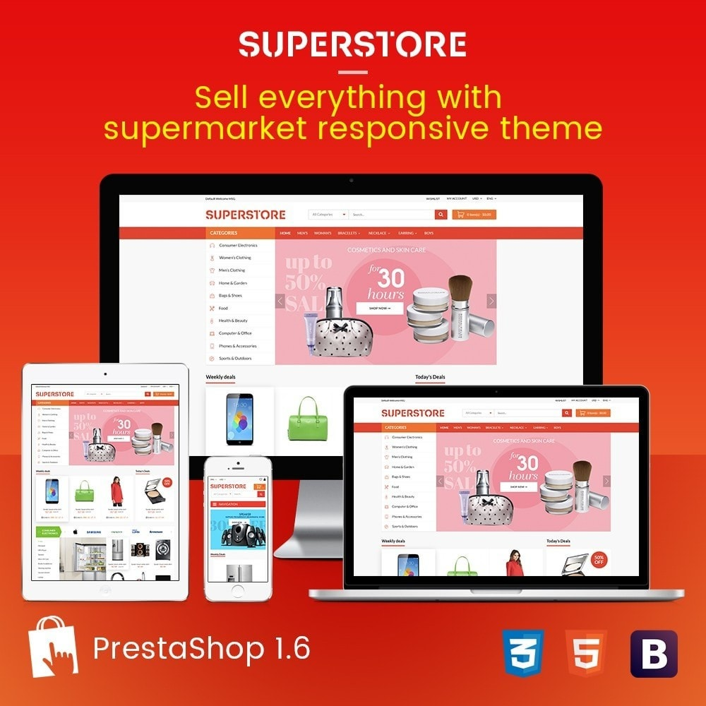 theme - Электроника и компьютеры - Supermarket - Appliances, Electronics & Fashion Store - 1