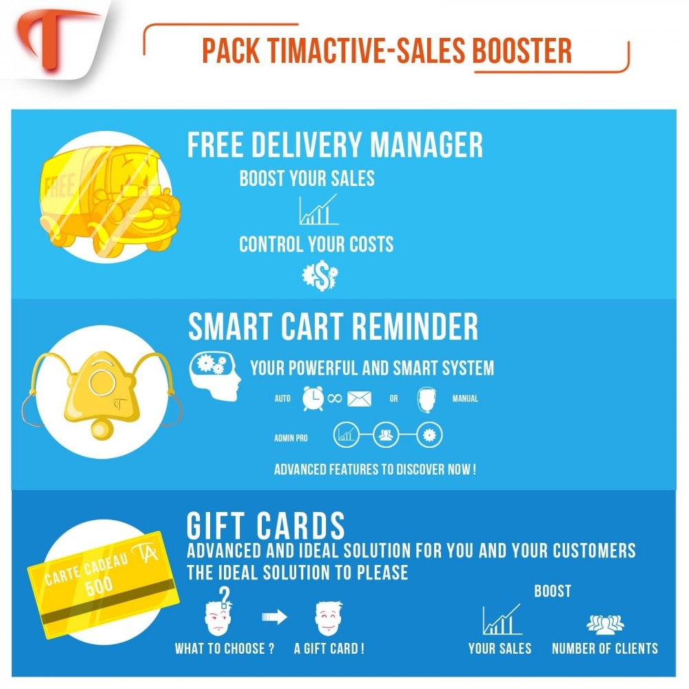 pack - Remarketing & Shopping Cart Abandonment - Sales Booster - 2