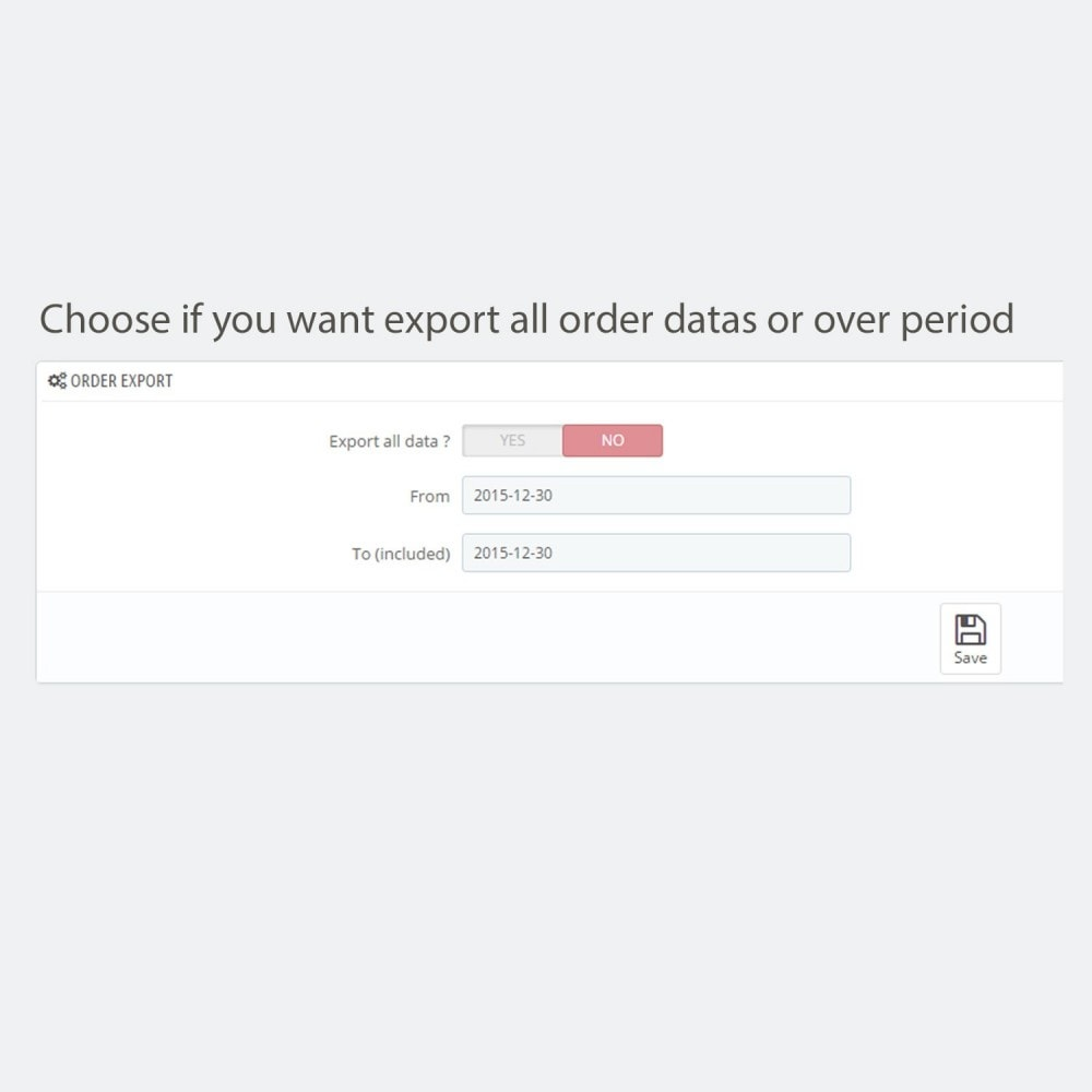 module - Importeren en Exporteren van data - Simple and secure customer / order export - 3