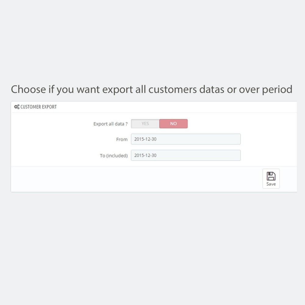 module - Daten Im-&Export - Simple and secure customer / order export - 5