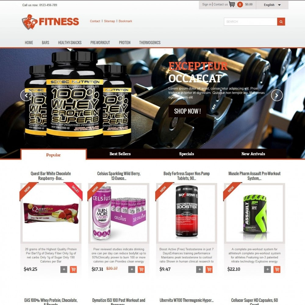 theme - Alimentation & Restauration - Fitness Light 1.0. - 2