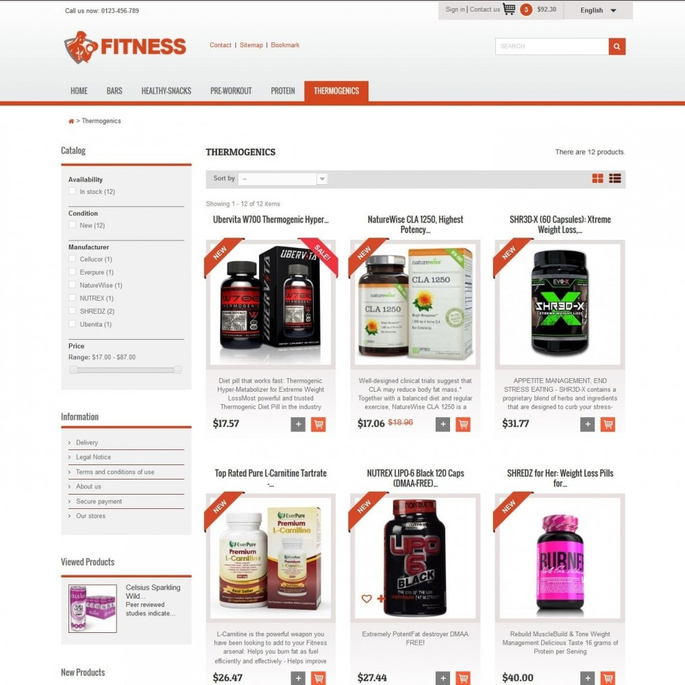 theme - Alimentation & Restauration - Fitness Light 1.0. - 3