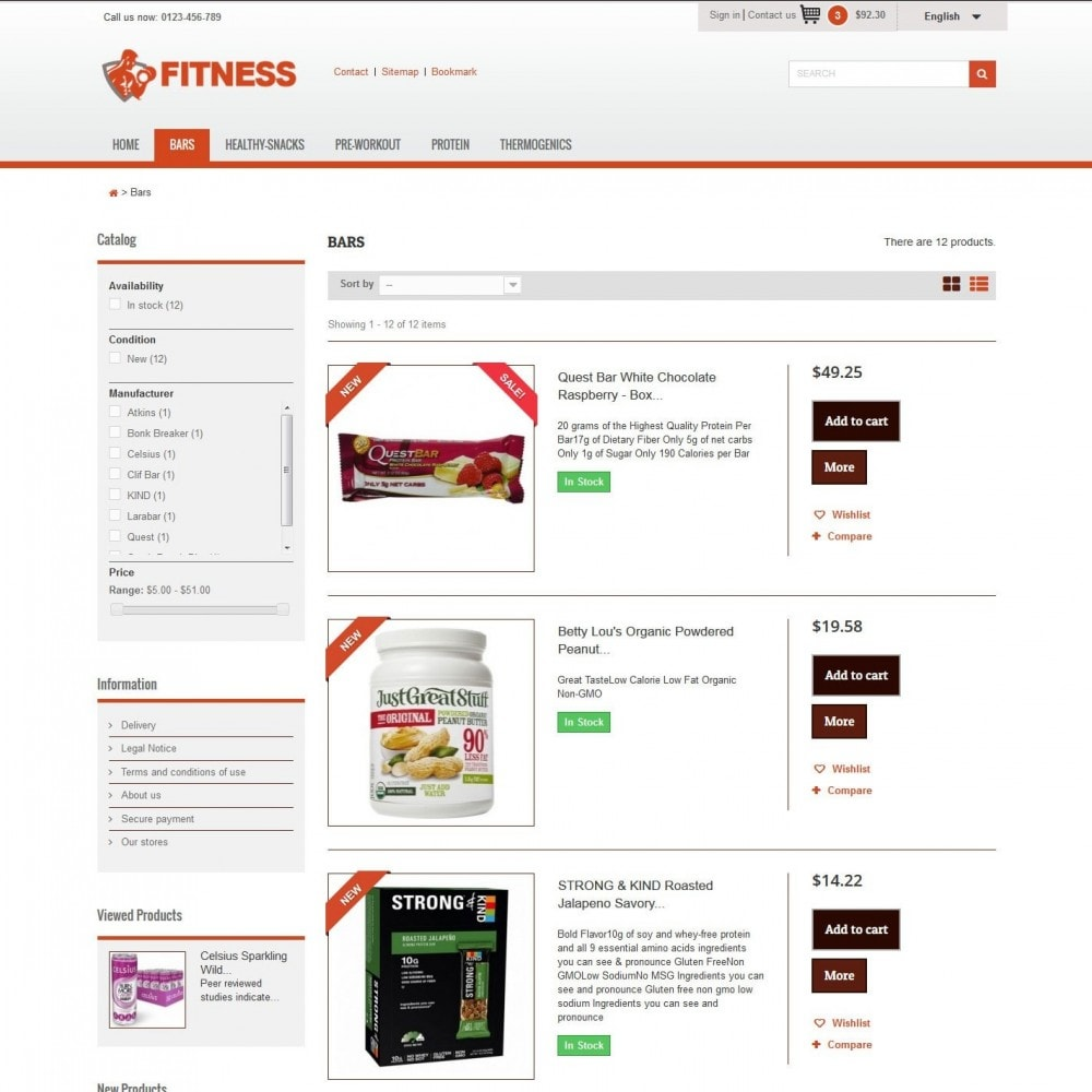 theme - Alimentation & Restauration - Fitness Light 1.0. - 4