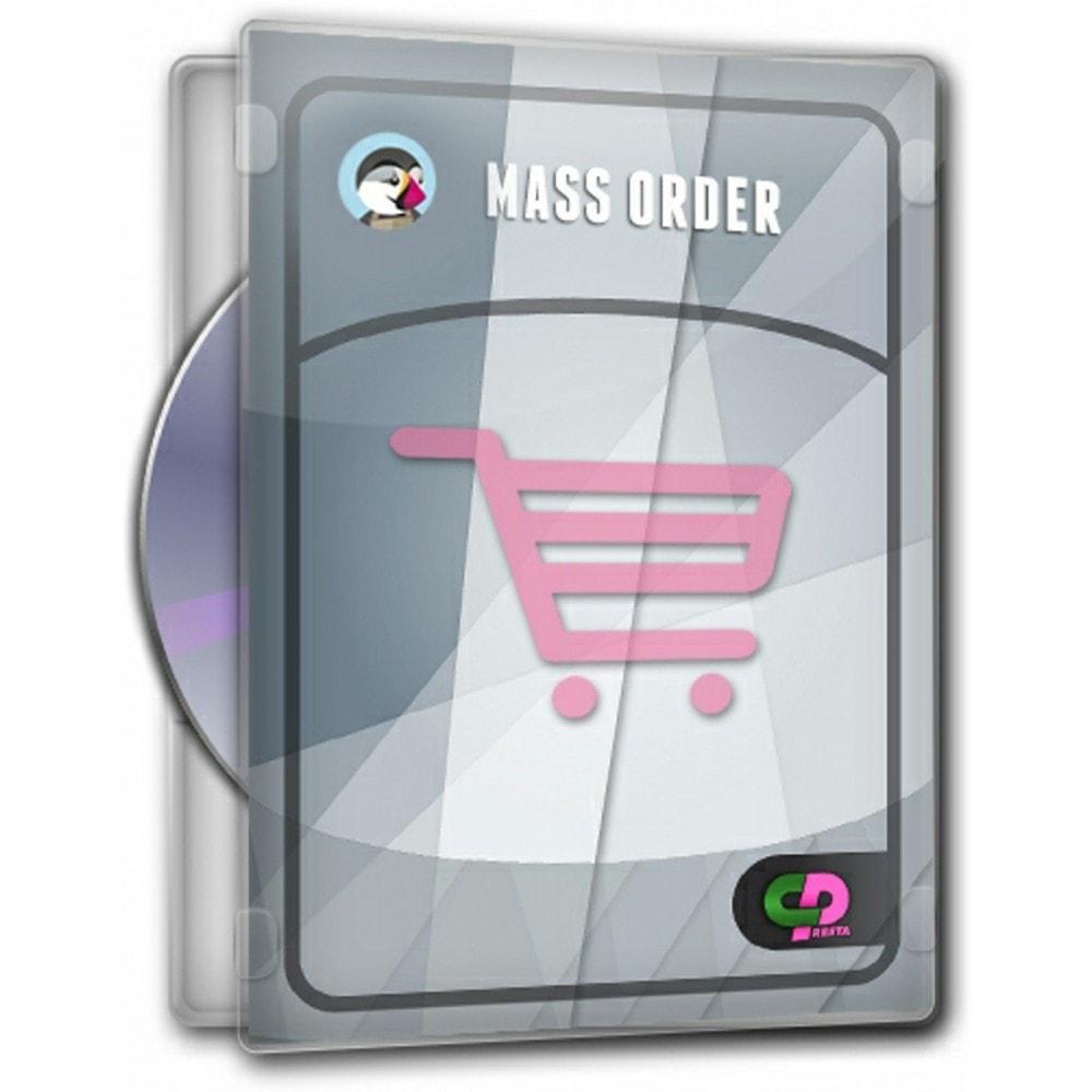 module - Inscription & Processus de commande - Commander en masse - 1