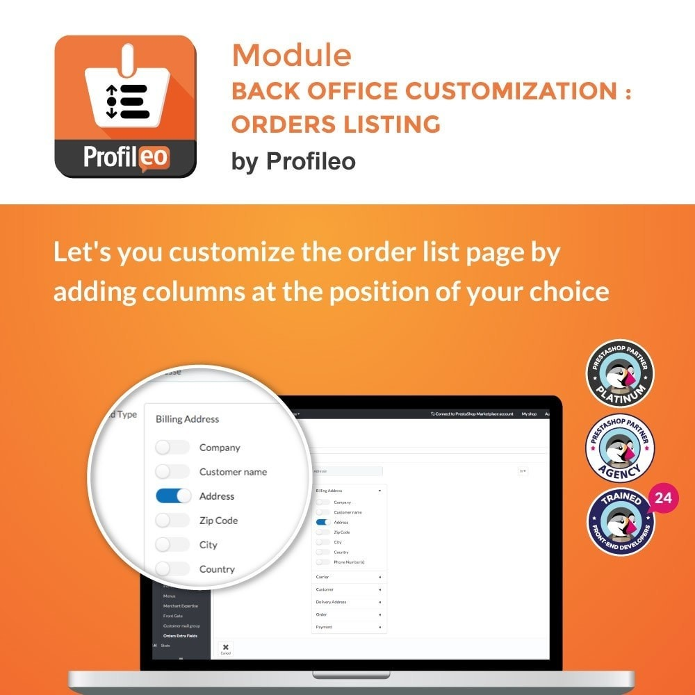module - Auftragsabwicklung - Back Office customization : Orders listing - 1