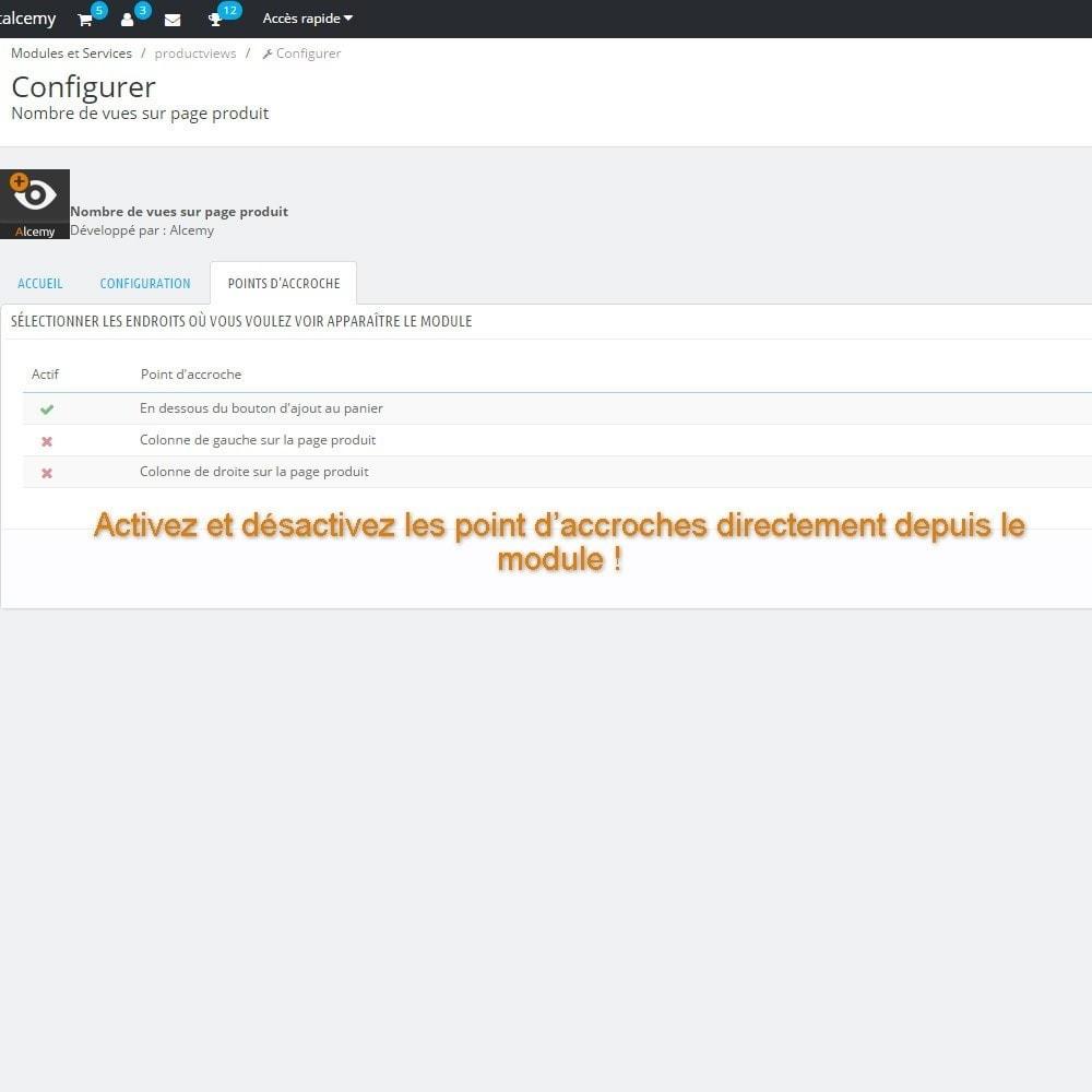 module - Information supplémentaire & Onglet produit - Nombre de vues sur page produit - 3