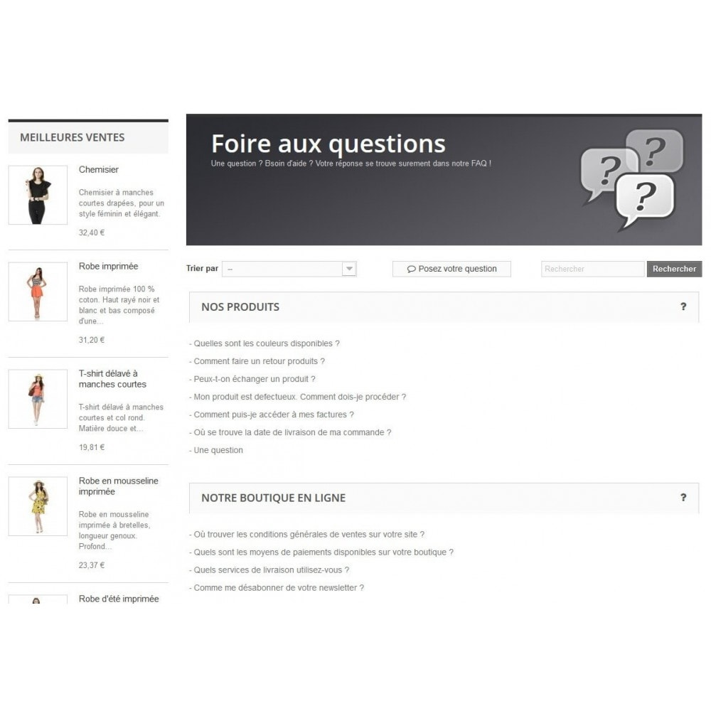 module - FAQ (questions fréquentes) - FAQ Users - Foire aux Questions - 2