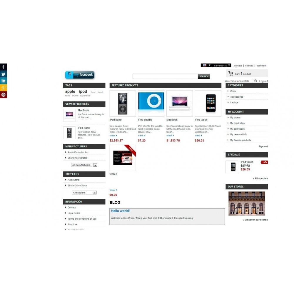 module - Boutons de Partage & Commentaires - Social Tech / Share +Whatsapp - 6