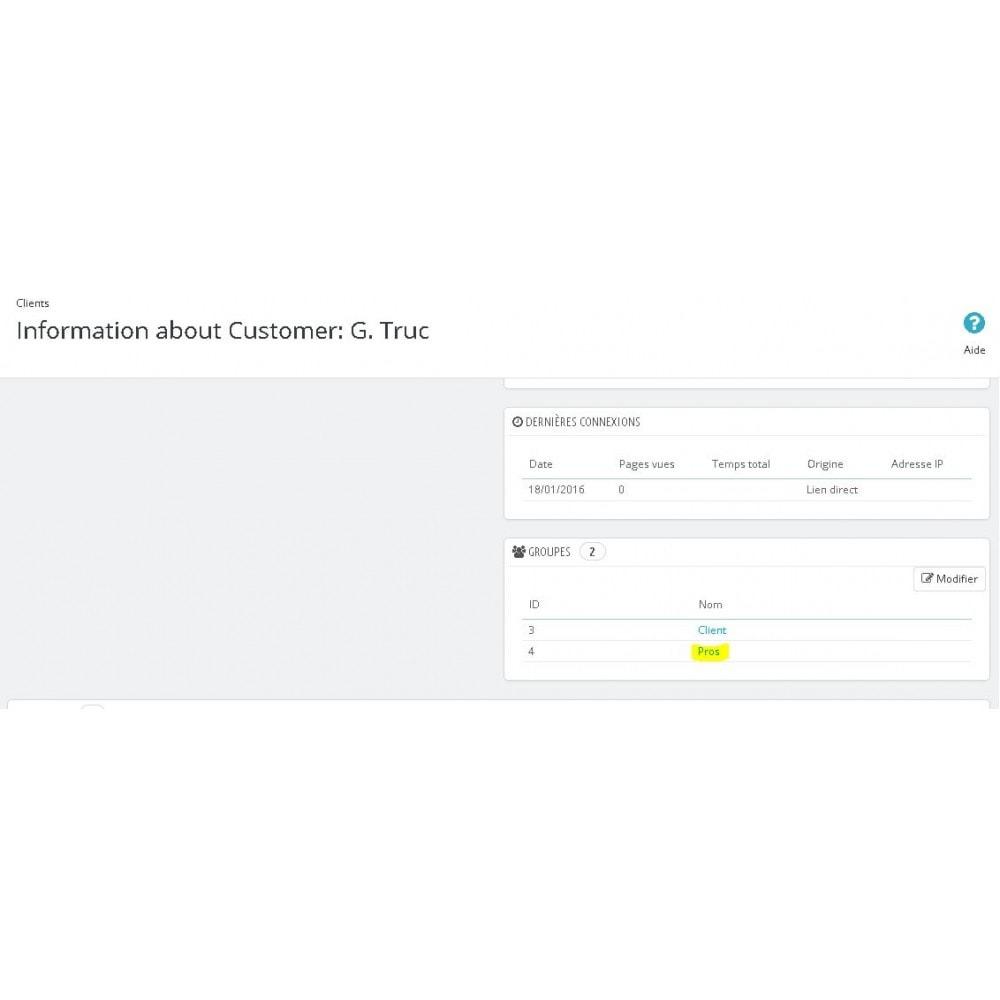 module - Gestion des clients - Inscription client en tant que pro - 3