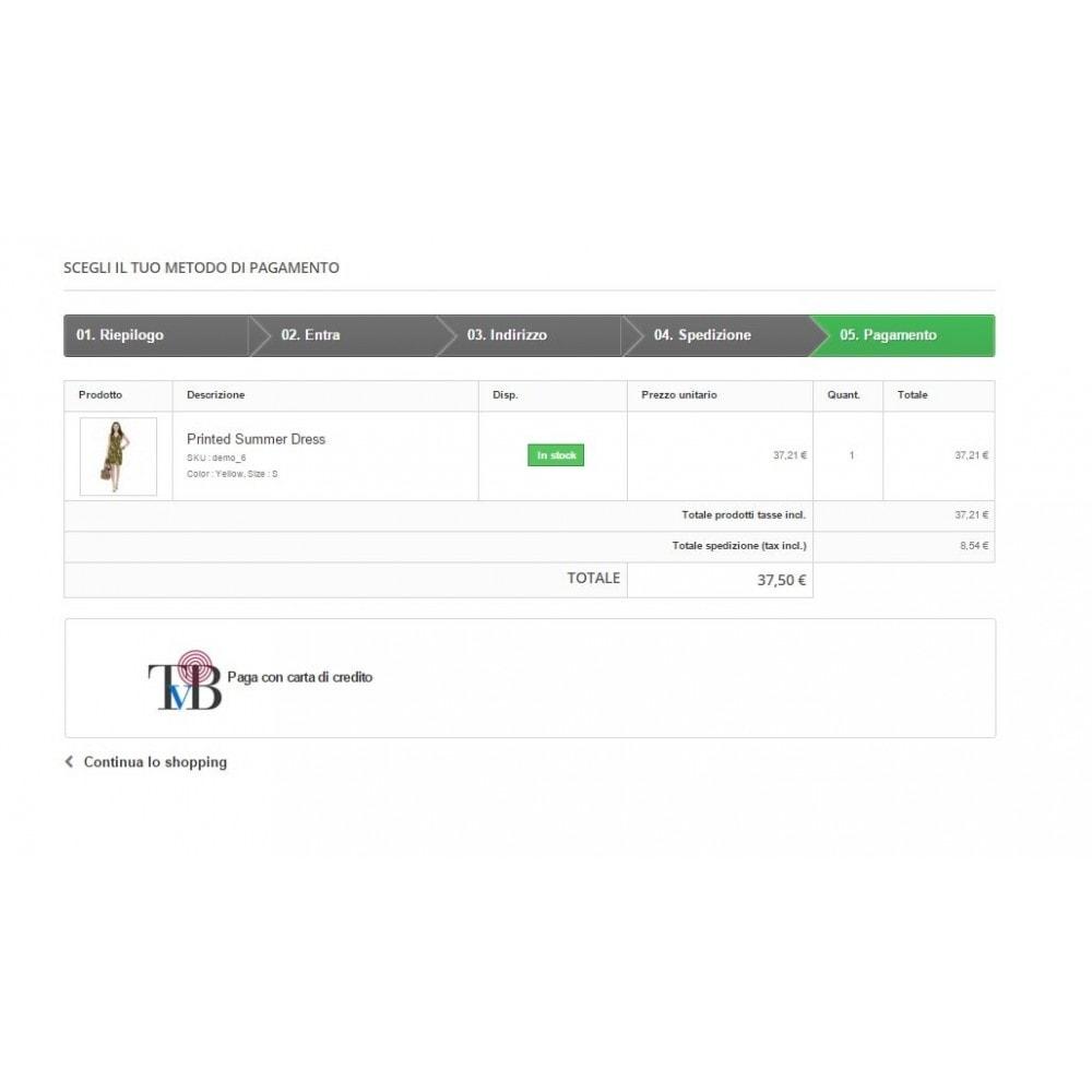 module - Pagamento con Carta di Credito o Wallet - POS Virtuale Consorzio Triveneto - TVB - Completo - 2