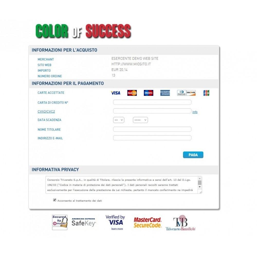 module - Pagamento con Carta di Credito o Wallet - POS Virtuale Consorzio Triveneto - TVB - Avanzato - 3
