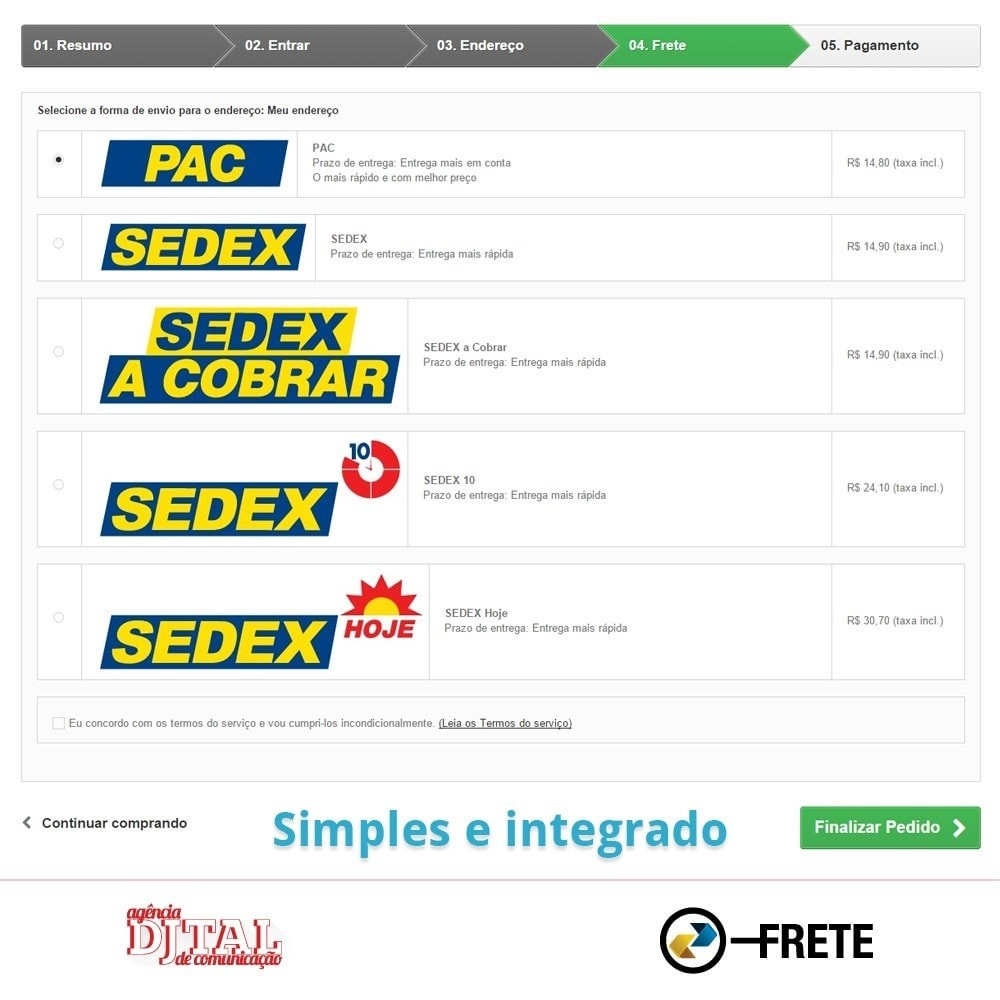 module - Vervoerder - Shipping cost calculation by the Brazilian Correios - 4