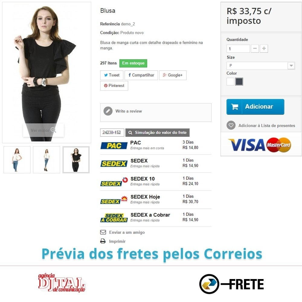 module - Transporteurs - Shipping cost calculation by the Brazilian Correios - 5