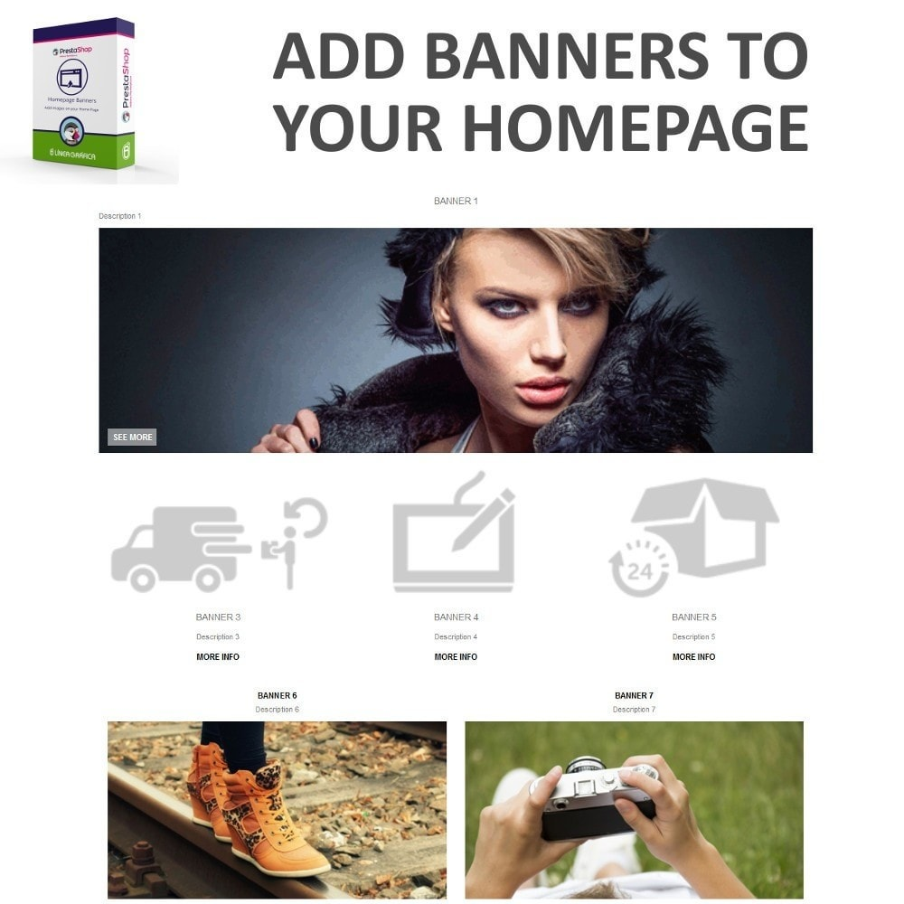 module - Personalizacja strony - Homepage Banners - Add Images on your Home Page - 2
