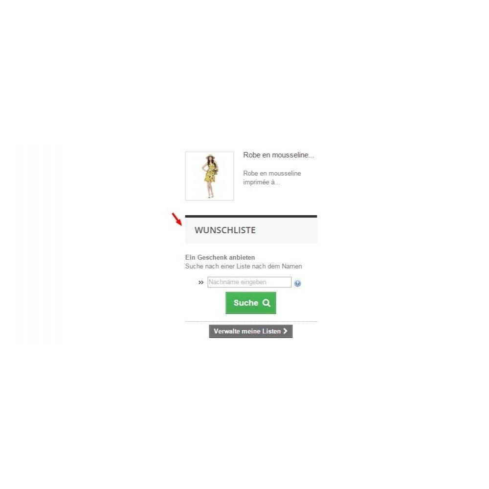 module - Wunschzettel & Geschenkkarte - Wishlist PRO - 2