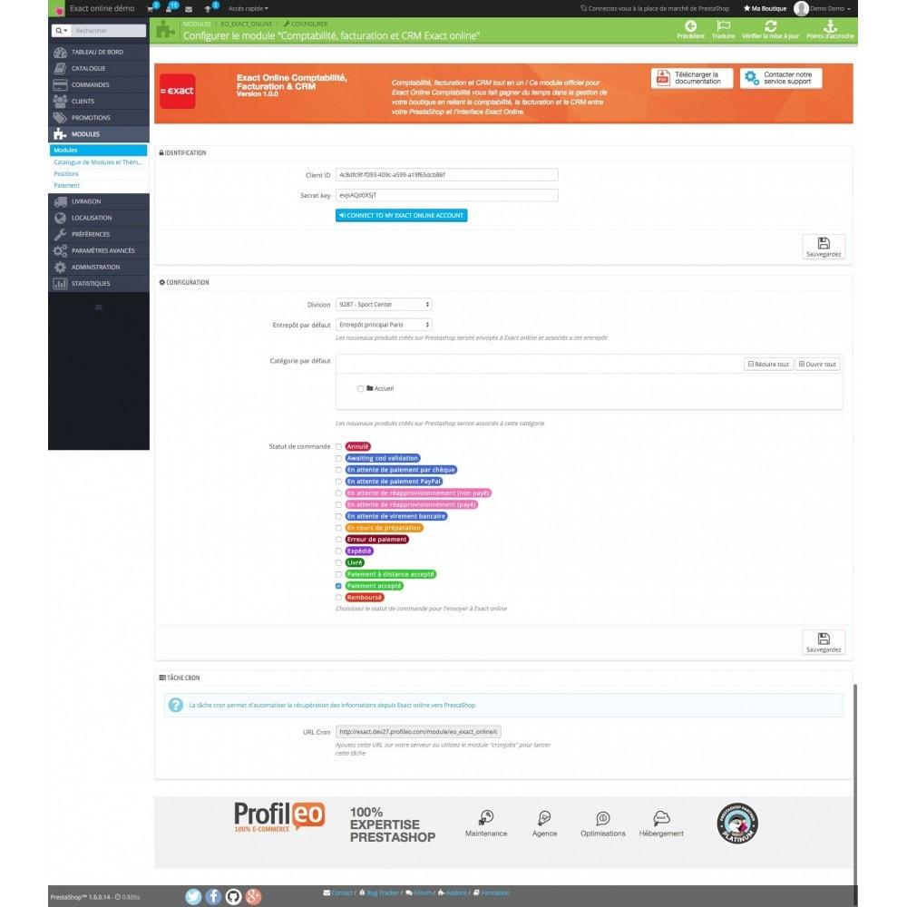 module - Connexion à un logiciel tiers (CRM, ERP...) - Exact PRO (ERP, Comptabilité, CRM) - 3