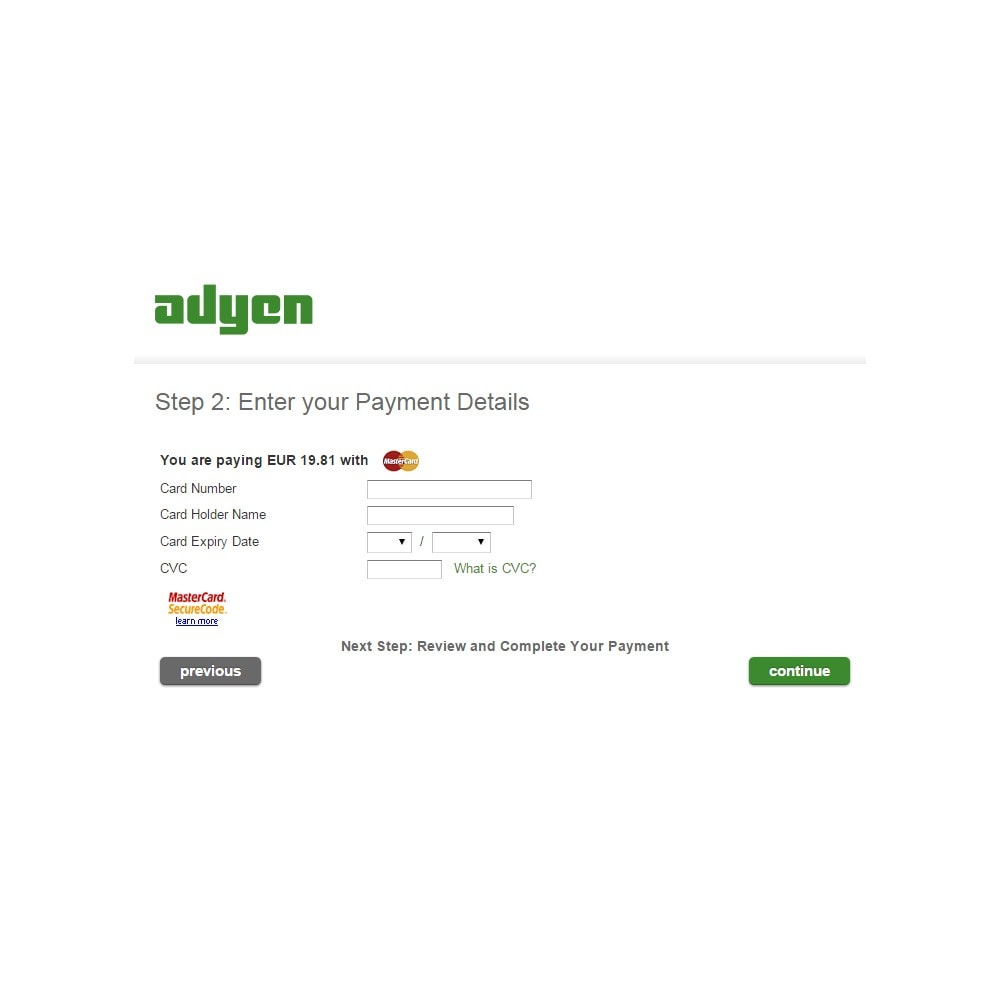module - Payment by Card or Wallet - Adyen Payment - 5