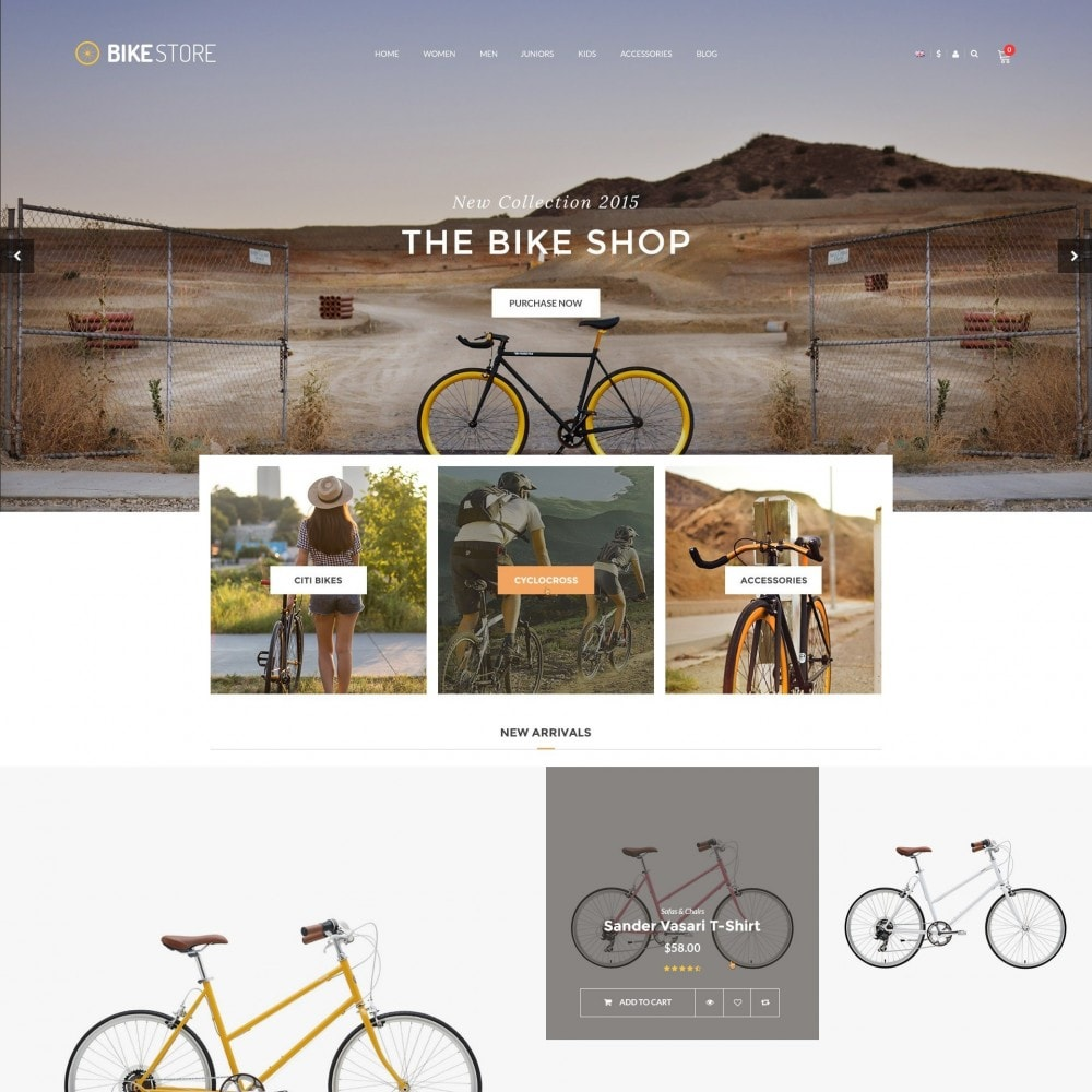 theme - Sport, Activiteiten & Reizen - Bikes, Cycling Clothing & Bike Shoes Responsive Store - 1