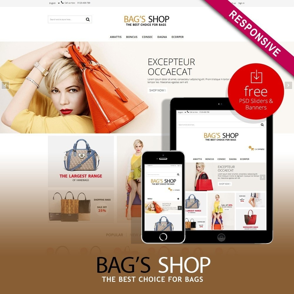 theme - Schmuck & Accesoires - Bags shop Multipurpose HTML5 - 1