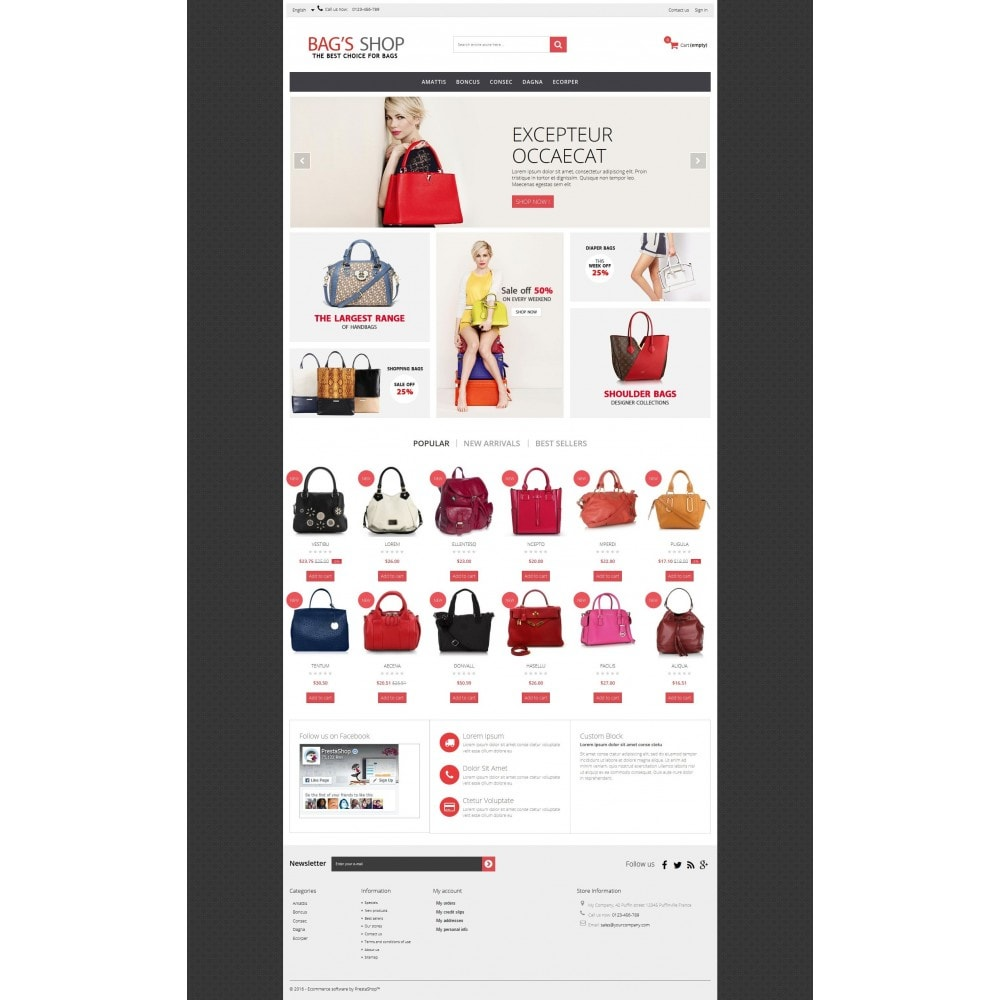 theme - Schmuck & Accesoires - Bags shop Multipurpose HTML5 - 8
