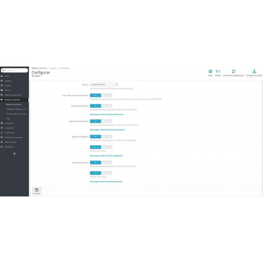 module - Importación y Exportación de datos - MY XPORT - 1