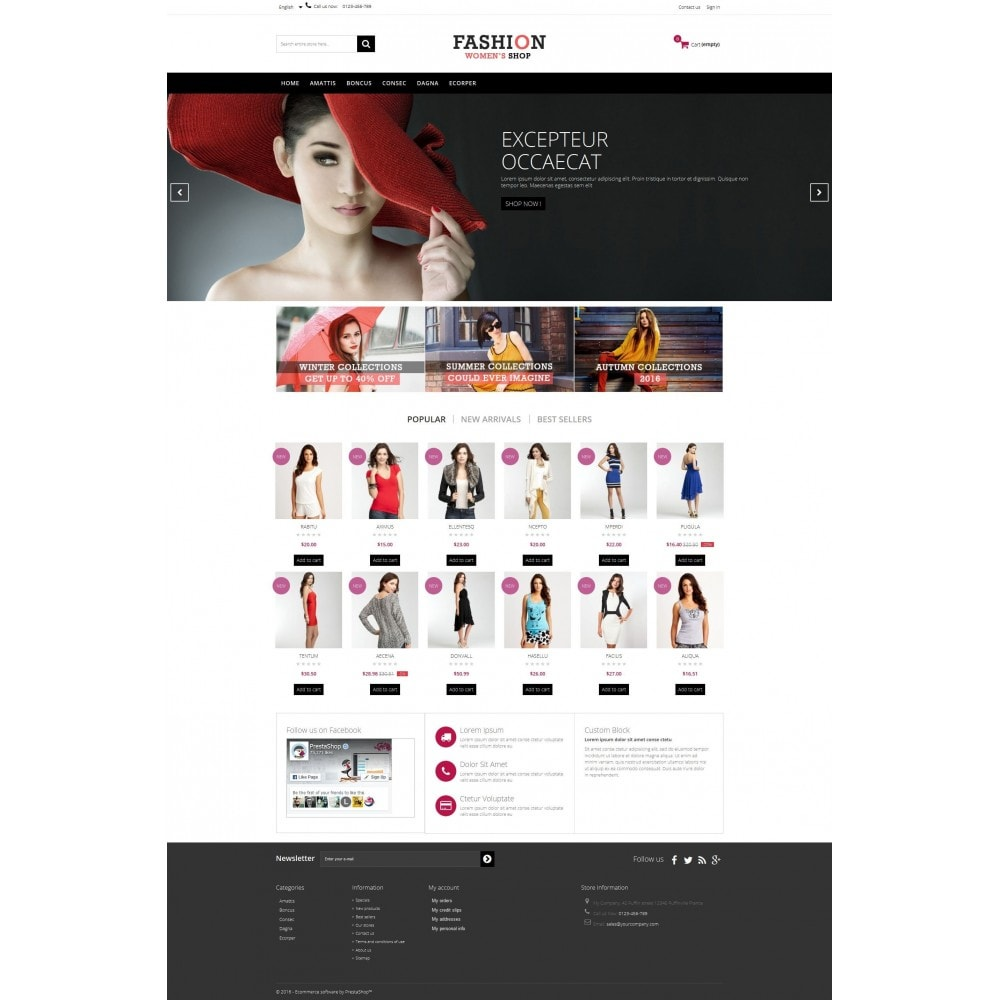 theme - Fashion & Shoes - Fashion Multipurpose HTML5 - 3