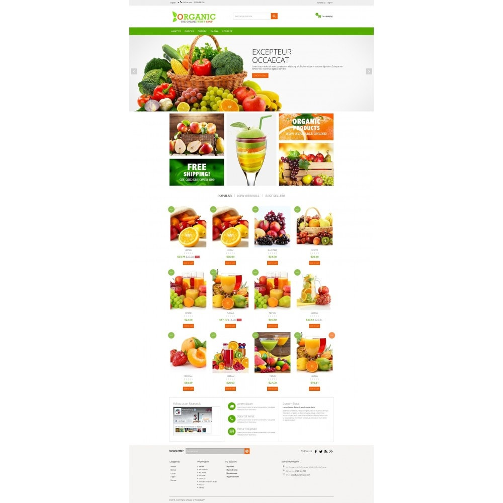 theme - Alimentation & Restauration - Organic Multishop  HTML5 - 2