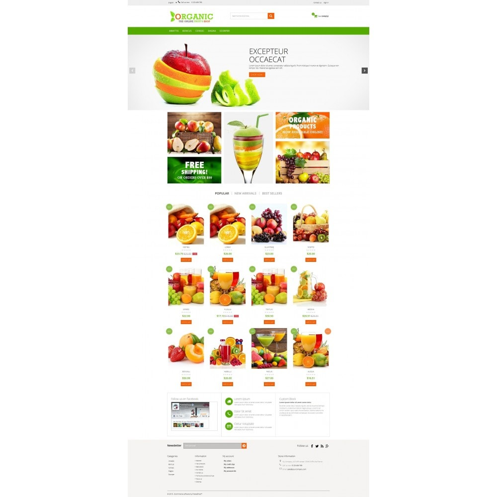 theme - Alimentation & Restauration - Organic Multishop  HTML5 - 9