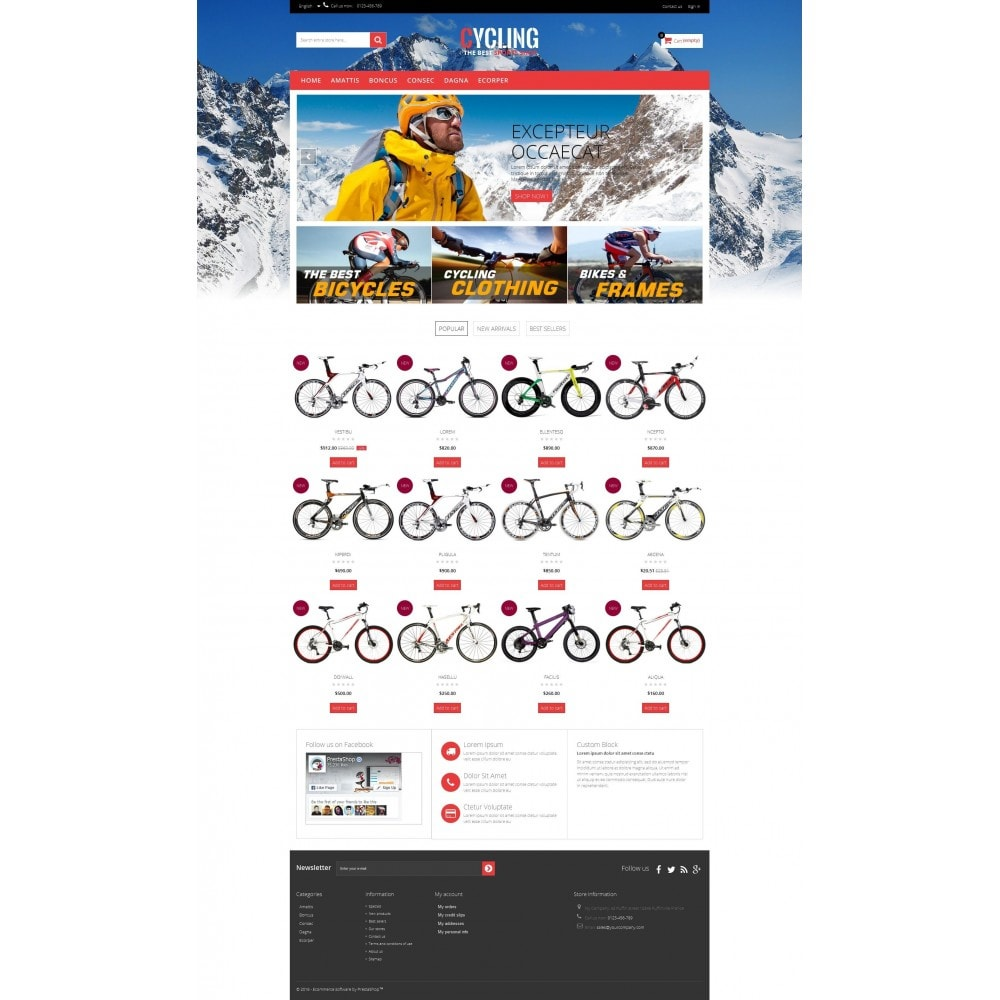 theme - Sports, Activities & Travel - Cycle Multishop HTML5 - 7