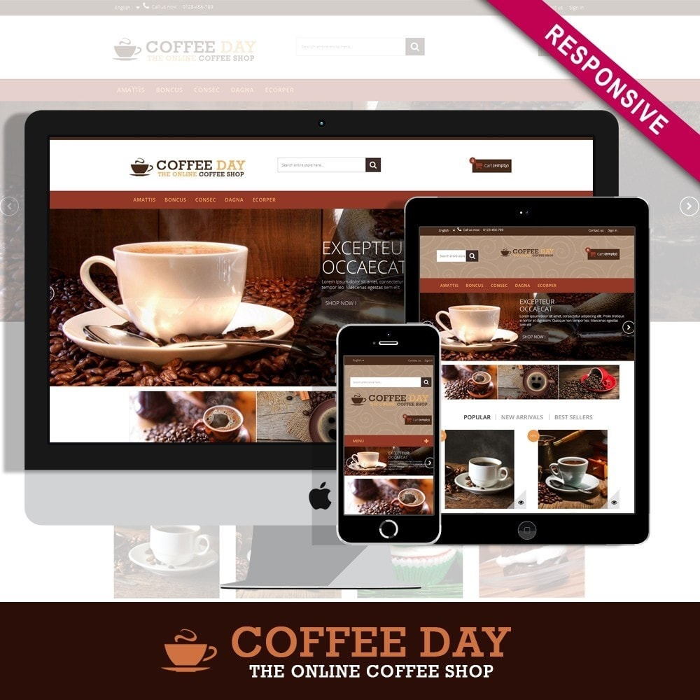 theme - Boissons & Tabac - Coffee & Cake Multipurpose HTML5 - 1