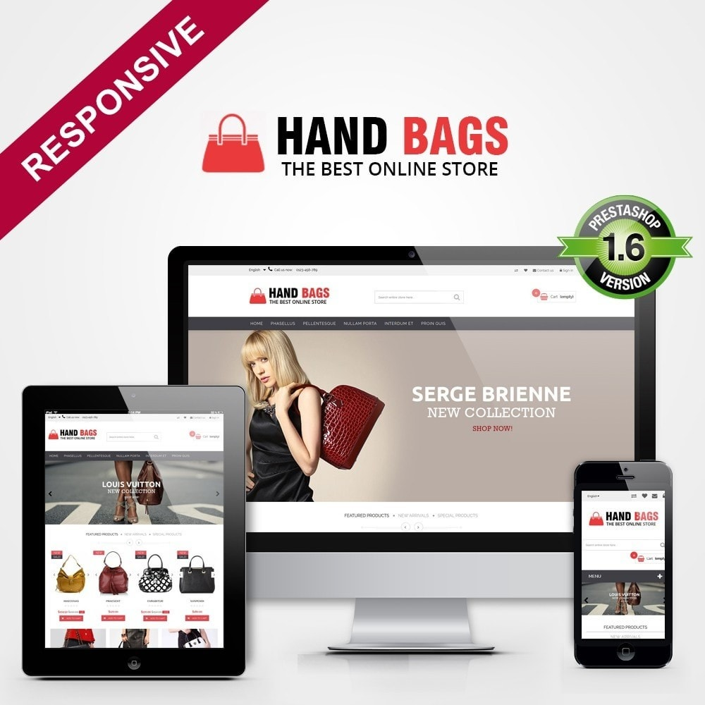 theme - Sieraden & Accessoires - Hand Bags Multipurpose HTML5 - 1